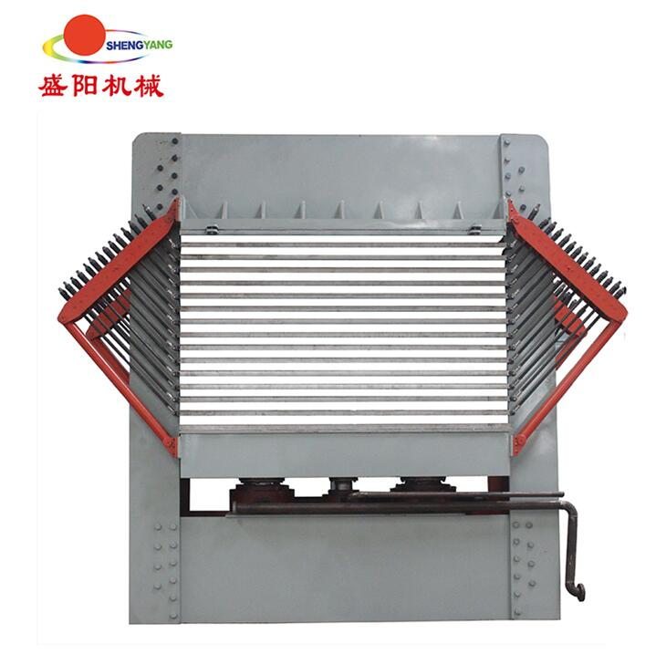 Hot press type veneer dryer